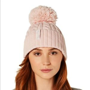 CALVIN KLEIN Hat Knitted Cable Beanie Petal Pink